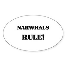 Narwhals Rule Oval Decal