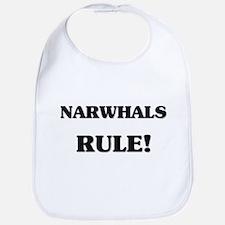 Narwhals Rule Bib