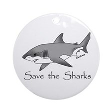 Save the Sharks Ornament (Round)