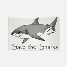 Save the Sharks Rectangle Magnet
