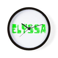 Elyssa Faded (Green) Wall Clock