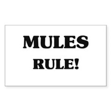 Mules Rule Rectangle Decal