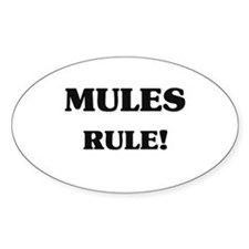 Mules Rule Oval Decal