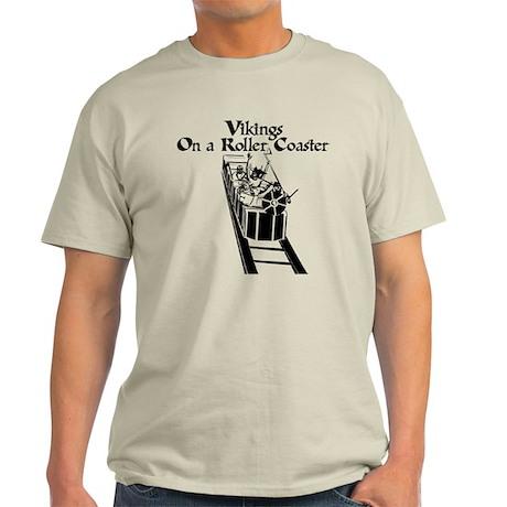Vikings On A Roller Coaster Light T-Shirt