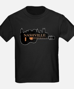 Nashville Guitar Skyline-05 T-Shirt