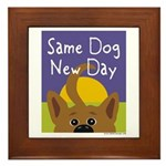 Same Dog, New Day Framed Tile