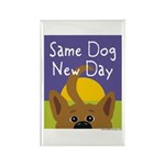 Same Dog, New Day Rectangle Magnet (100 pack)