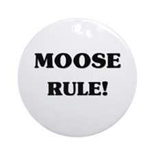 Moose Rule Ornament (Round)