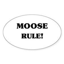Moose Rule Oval Decal