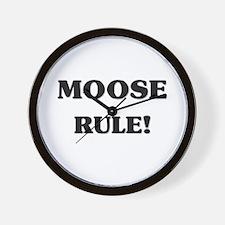 Moose Rule Wall Clock