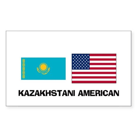 Kazakhstani American Rectangle Sticker