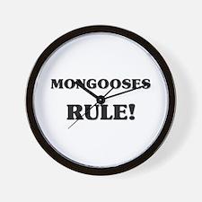 Mongooses Rule Wall Clock
