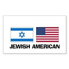 Jewish American Rectangle Decal