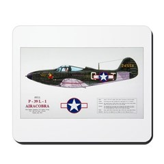 Airacobra WWII Aircraft Mousepad