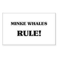 Minke Whales Rule Rectangle Decal