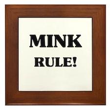Mink Rule Framed Tile