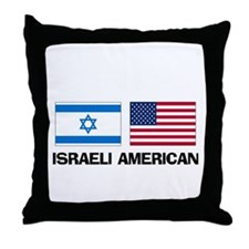 Israeli American Throw Pillow