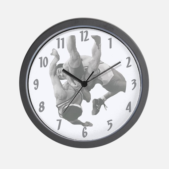 Freestyle Wrestling Wall Clock