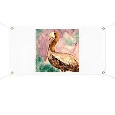 Pelican wildlife bird art Banner