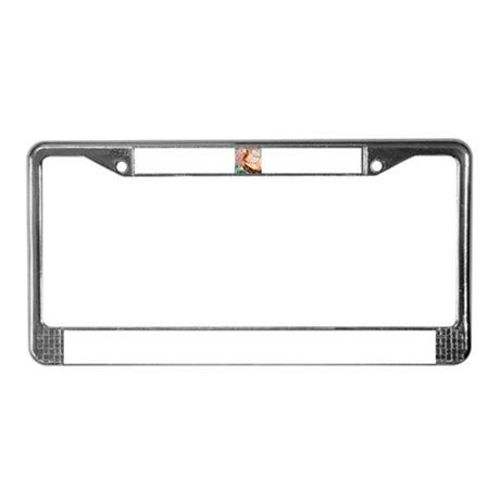 Plican wildlife bird art License Plate Frame