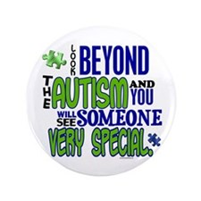 """Look Beyond 1.1 (AUTISM) 3.5"""" Button (100 pack)"""