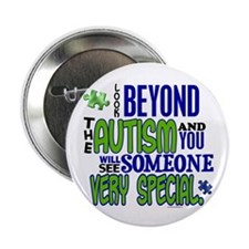"Look Beyond 1.1 (AUTISM) 2.25"" Button (10 pack)"