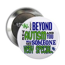 """Look Beyond 1.1 (AUTISM) 2.25"""" Button"""