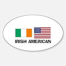 Irish American Oval Decal