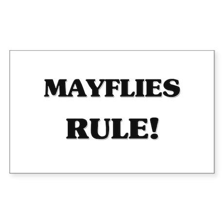Mayflies Rule Rectangle Sticker