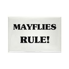 Mayflies Rule Rectangle Magnet