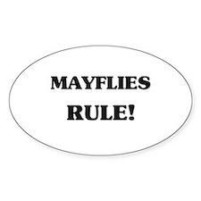Mayflies Rule Oval Decal