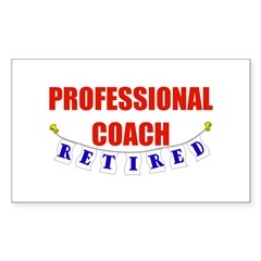 Retired Professional Coach Rectangle Sticker 50 p