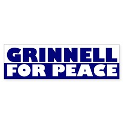 Grinnell for Peace (bumper sticker)