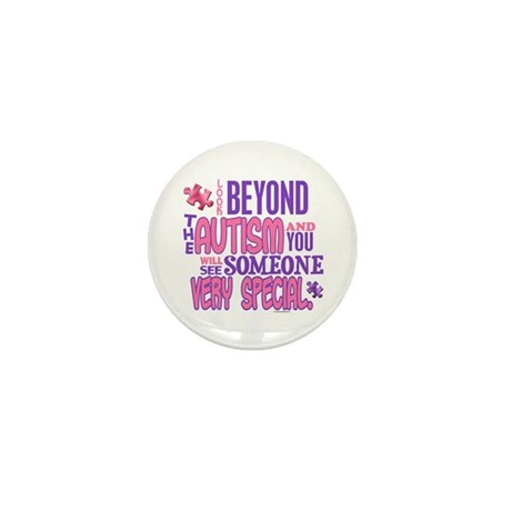 Look Beyond 1.4 (AUTISM) Mini Button (10 pack)