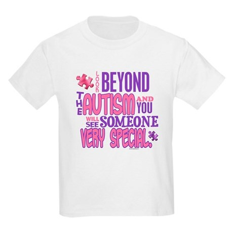 Look Beyond 1.4 (AUTISM) Kids Light T-Shirt
