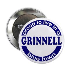 Grinnell: Proud Blue Town Button