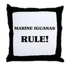 Marine Iguanas Rule Throw Pillow
