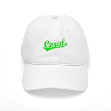 Retro Coral (Green) Baseball Cap