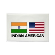 Indian American Rectangle Magnet