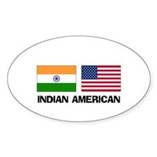 Indian American Oval Decal