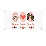 Peace Love Beach Flip Flop Banner