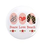 Peace Love Beach Flip Flop 3.5