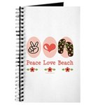 Peace Love Beach Flip Flop Journal