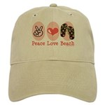 Peace Love Beach Flip Flop Cap