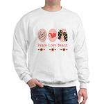 Peace Love Beach Flip Flop Sweatshirt