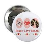 Peace Love Beach Flip Flop 2.25