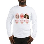 Peace Love Beach Flip Flop Long Sleeve T-Shirt