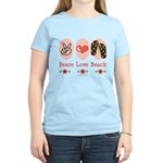 Peace Love Beach Flip Flop Spring Break T-Shirt