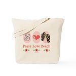 Peace Love Beach Flip Flop Tote Bag