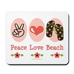 Peace Love Beach Flip Flop Mousepad